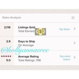 2K+ ITEMS SOLD!! 👏🏼 ⭐️⭐️⭐️⭐️⭐️ RATED - THANK YOU